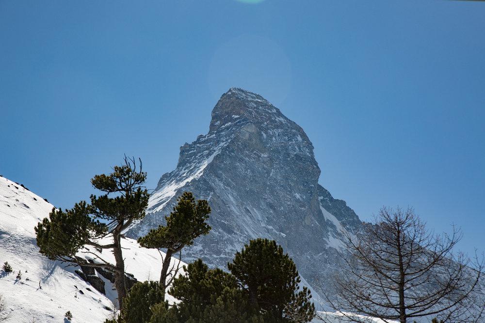 Blick auf das Matterhorn aus dem Hirli-Sessellift - © Skiinfo