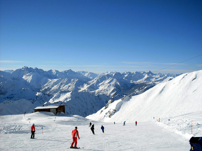 Skipiste auf dem Nebelhorn