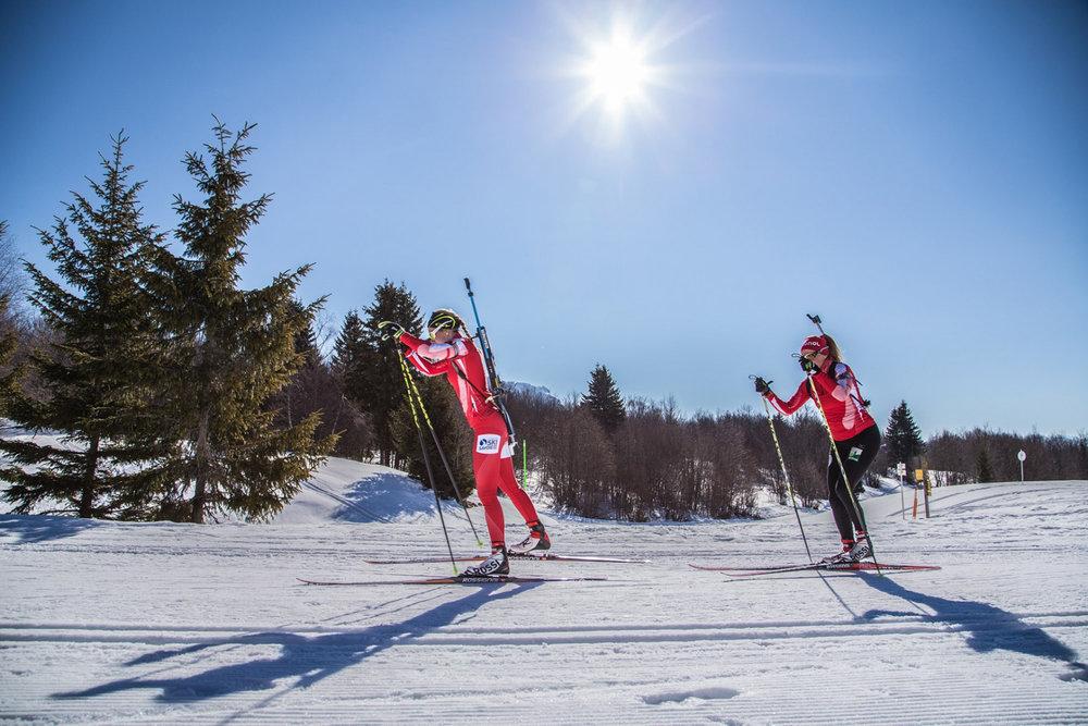 Session biathlon sur le domaine nordique de Savoie Grand Revard - © Station de Savoie Grand Revard
