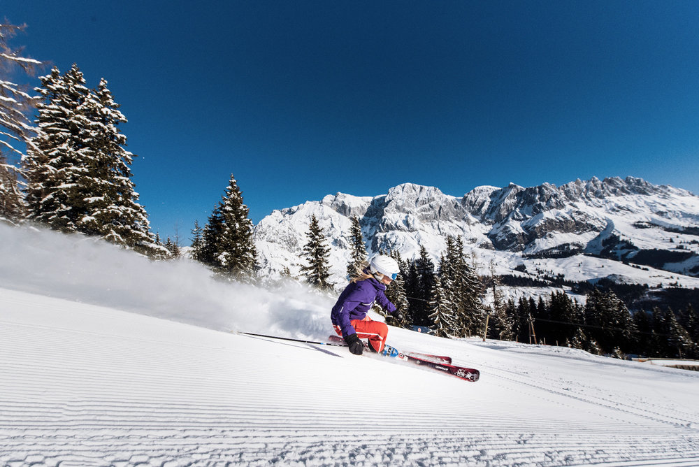 Skifahren im Skigebiet Hochkönig - © Hochkönig Tourismus GmbH