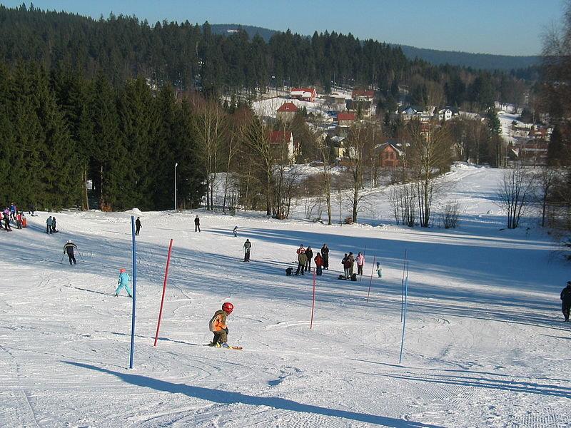 Skigebiet an der Bleaml Alm im Fichtelgebirge