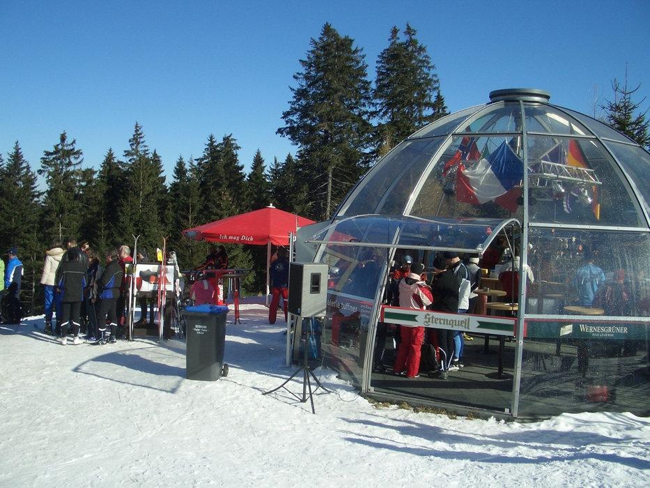 Bombardino - Bar im Skigebiet Carlsfeld
