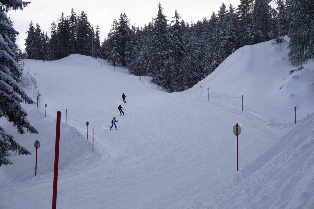 Im Skigebiet Götschen im Berchtesgadener Land