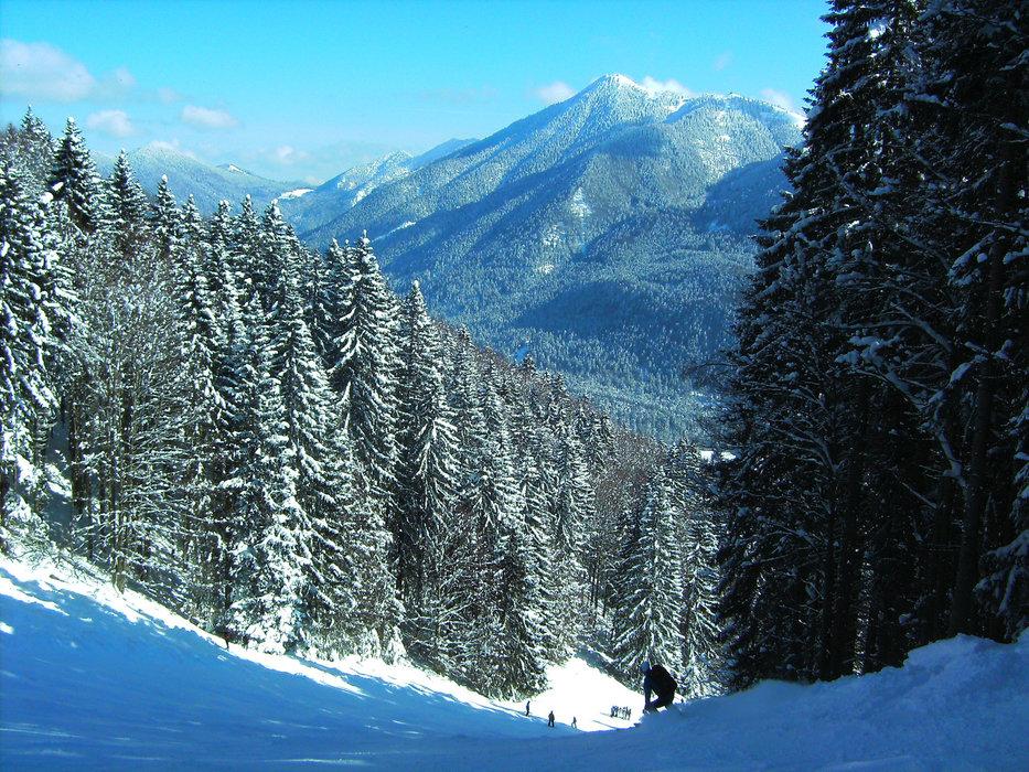 Skigebiet Hirschberglifte bei Kreuth