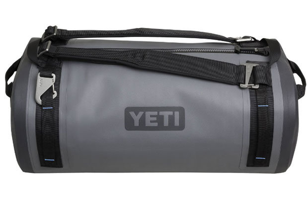 YETI Panga 50: $299 Make no mistake, this is NOT a cooler. The Panga 50 is a fully waterproof dry duffel with a variety of tough features, including an EVA molded bottom for enhanced sturdiness and a laminated, high density nylon shell. Six rugged lash points and a waterproof zipper ensure your gear stays where it belongs.