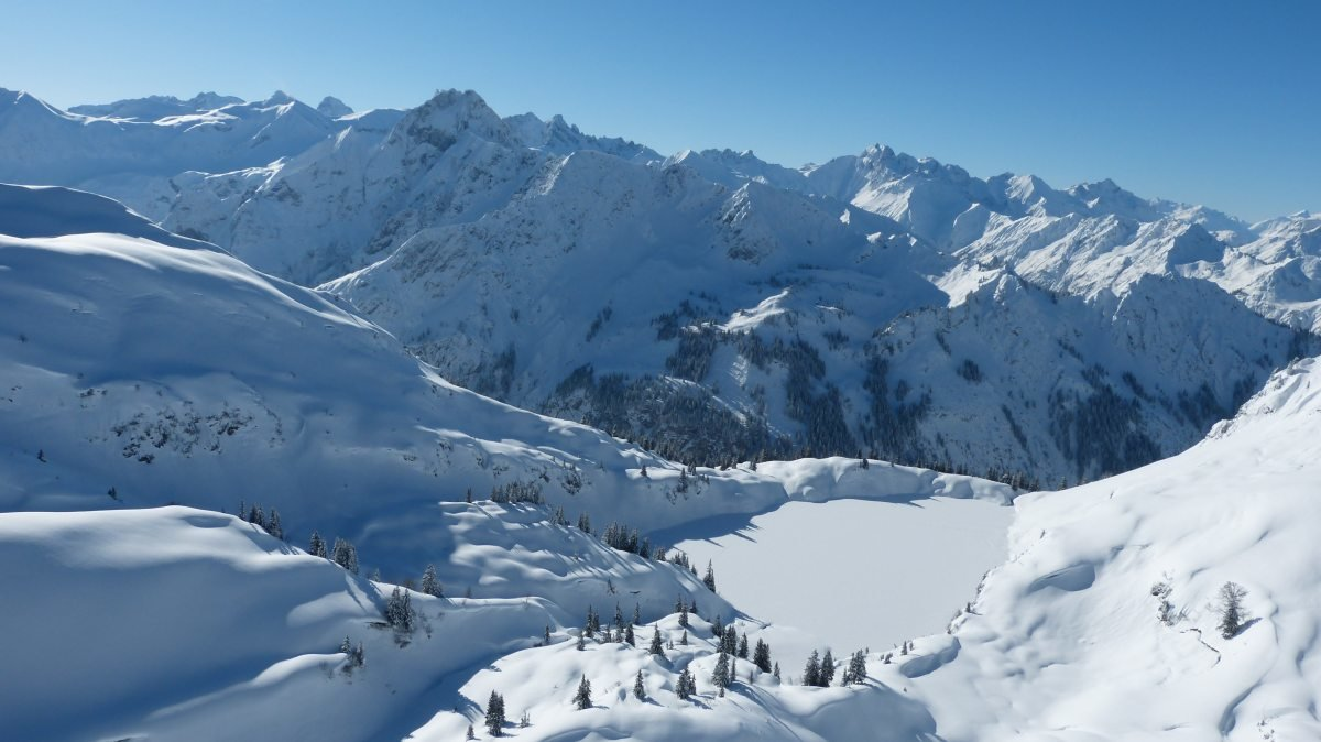 Seealpsee im Skigebiet Nebelhorn (Oberstdorf) - © Oberstdorf Kleinwalsertal Bergbahnen