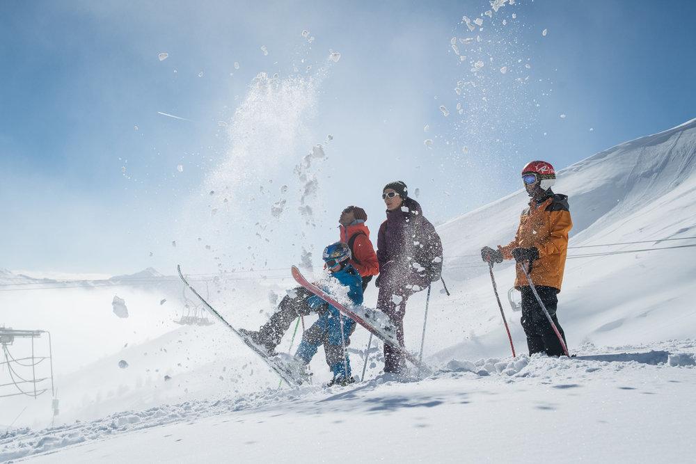 Journée ski en famille aux Karellis - © Alban Pernet