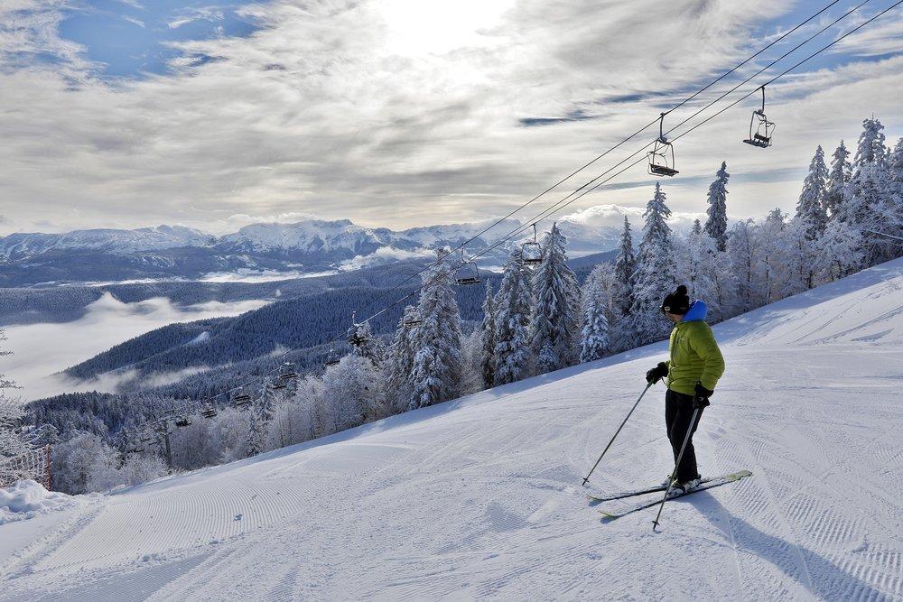 Conditions parfaites sur les pistes de ski de Méaudre... Une belle journée de glisse en perspective - © Station Autrans-Méaudre en Vercors