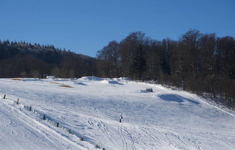 Sur les pistes de ski de Rouge Gzaon