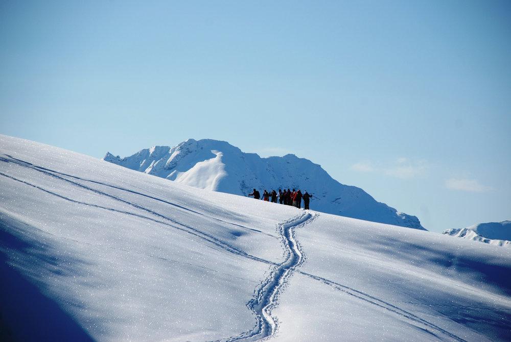 Selbstverständlich sind auch Skitourengeher gern gesehene Gäste im Skigebiet Grüsch-Danusa. - © gruesch-danusa.ch / Joh. Bärtsch ziitla.ch