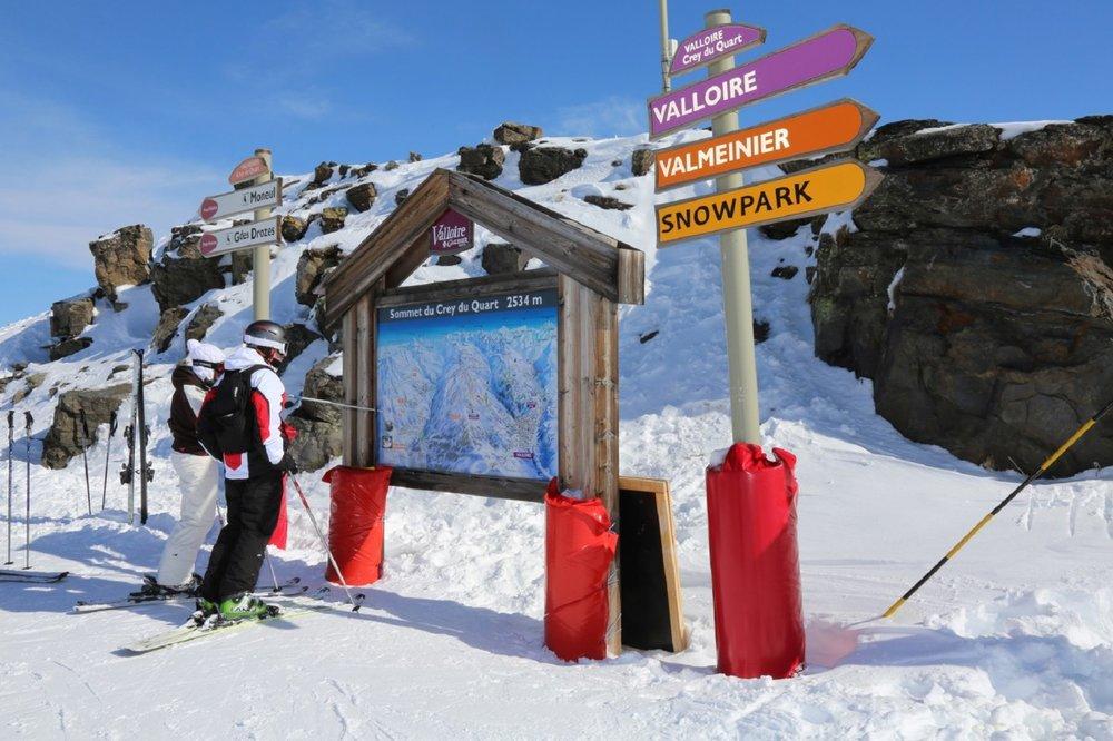 Sur le domaine skiable du Galibier Thabor, à cheval entre Valloire et Valmeinier...