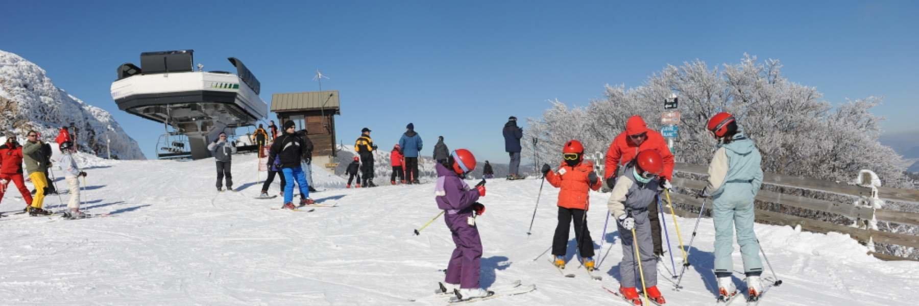Belle journée de glisse en perspective sur le domaine skiable du Col de Rousset - © Conseil Départemental de la Drome