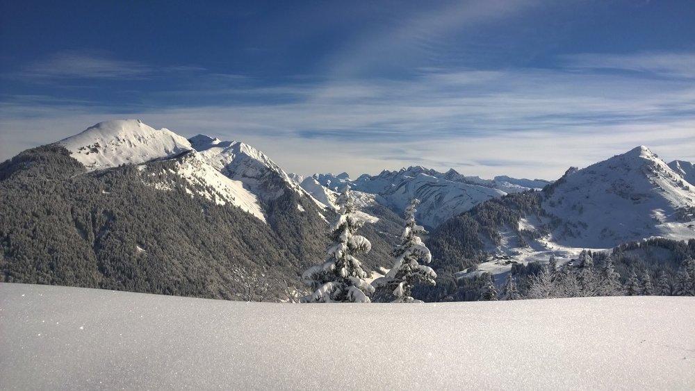 Paysage hivernal sur les hauteurs de Morzine - © OT de Morzine Avoriaz