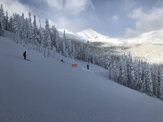 Nakiska Ski Area - Great opening day.  Snow was good.  Really on run open.  Looked like a winter wonderland. 