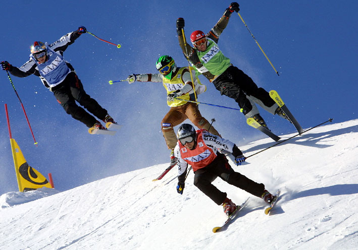 Ski-Cross in den Sextner Dolomiten