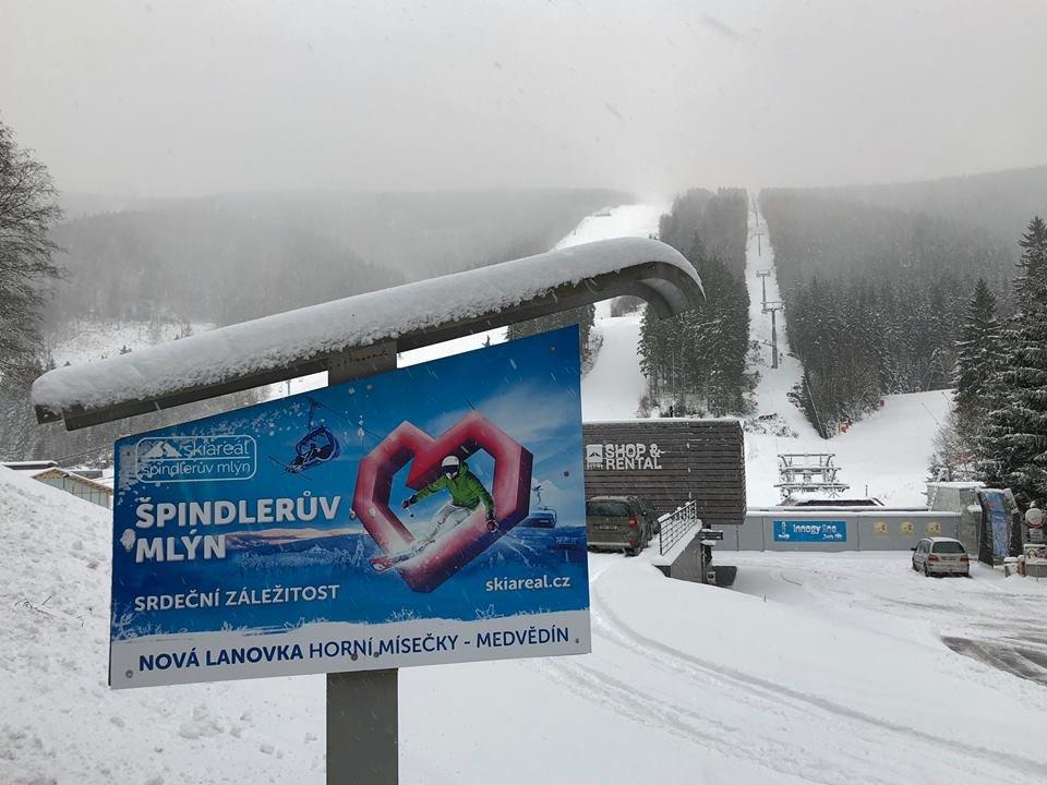 Szpindlerowy Młyn, 20.11.2017 - © facebook Skiareál Špindlerův Mlýn