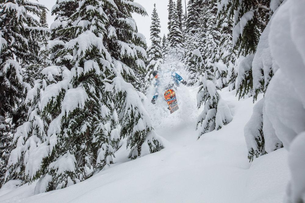 A snowboarder takes full advantage of Whistler Blackcomb's recent dump. - © Mitch Winton / Coast Mountain Photography