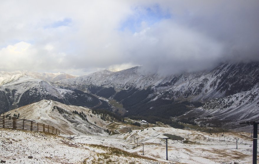 Arapahoe Basin's first snow of the 17/18 season. - © Arapahoe Basin Ski Area