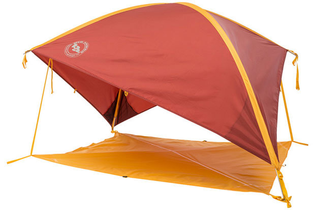 Big Agnes Whetstone Shelter: $159 Seek shelter from the wind, rain and sun with this innovative offering from Big Agnes. The Whetstone is a perfect companion for a day at the beach, music festivals, picnics and camping. The ready to pitch design allows for quick setup and the 46-square-foot floor area provides ample room for two camping chairs and a cooler. Other features include four interior mesh pockets, aluminum hook stakes and adjustable webbing that allows the shelter to shift quickly with the moving sun.  - © Big Agnes