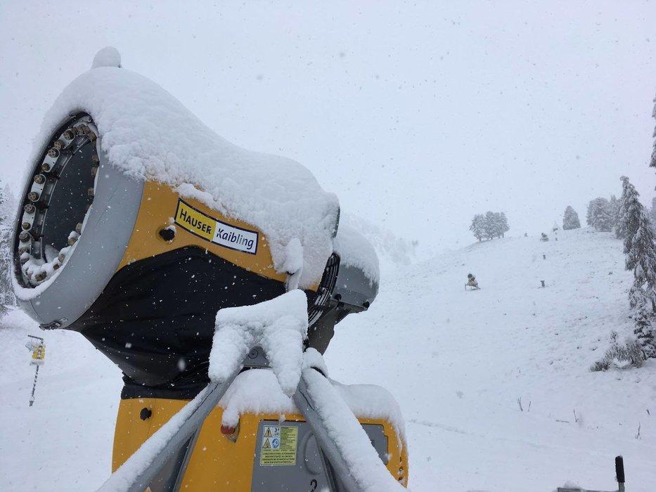 Im Skigebiet Hauser Kaibling wartet man auf den Saisonstart - © Facebook Hauser Kaibling