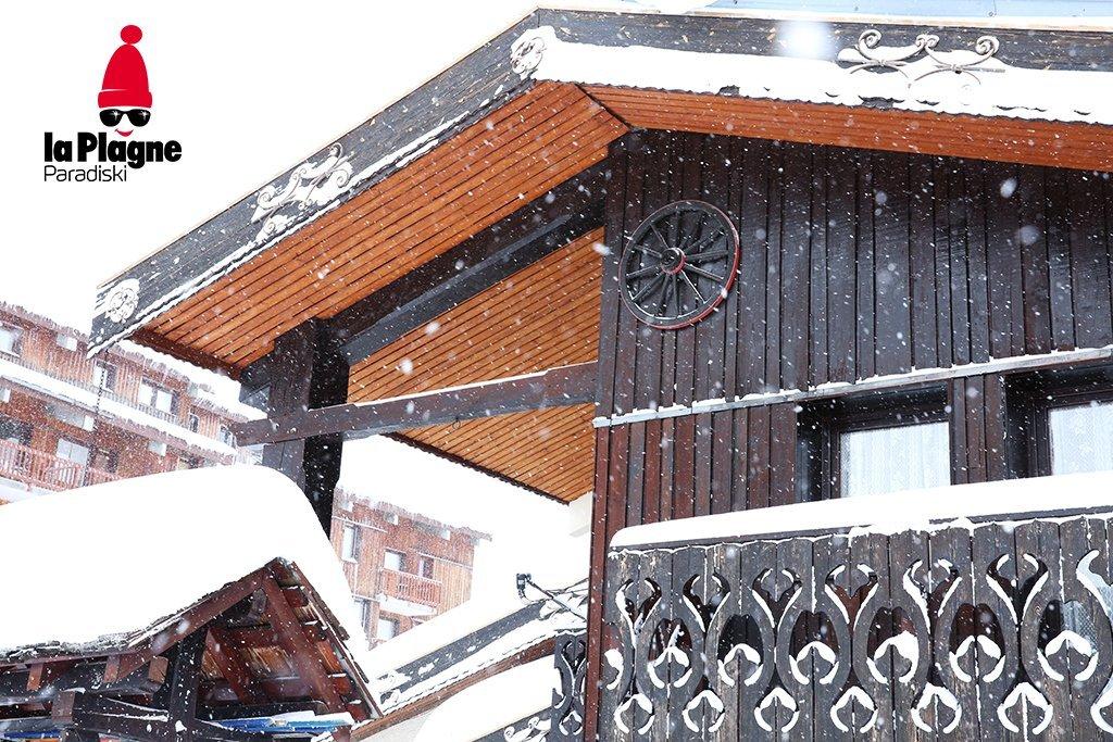 Belle ambiance hivernale à La Plagne ce matin - © Twitter la Plagne