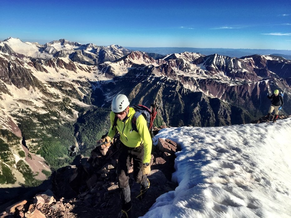 Chris Tomer climbed all 58 of Colorado's 14ers in 2009. - © Meteorologist Chris Tomer