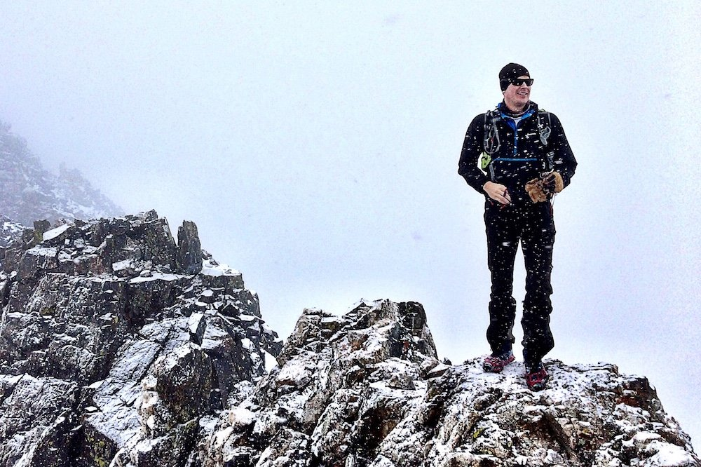 Chris Tomer relishing another summit victory. - © Meteorologist Chris Tomer