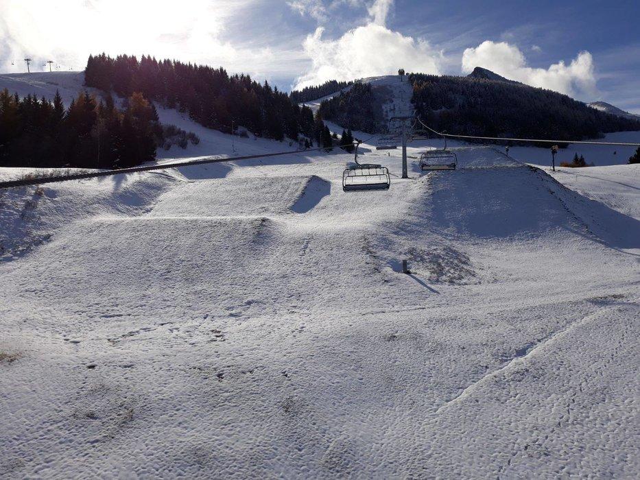 La prima neve a Monte Bondone 08.11.2017 - © Monte Bondone Facebook