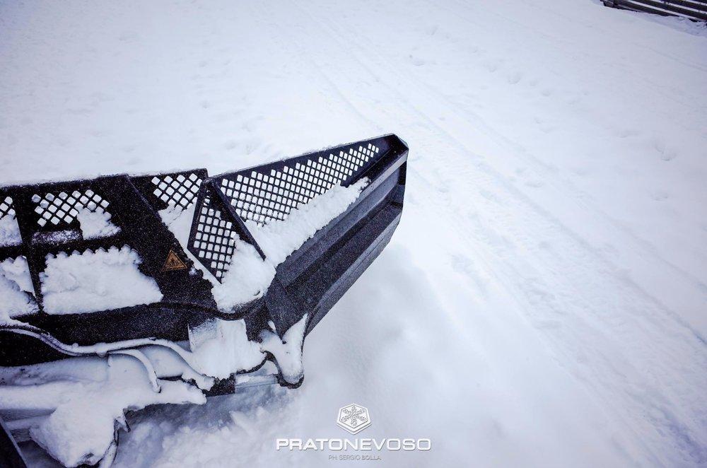 Neve fresca a Prato Nevoso, 11.11.17 - © Prato Nevoso Ski Facebook