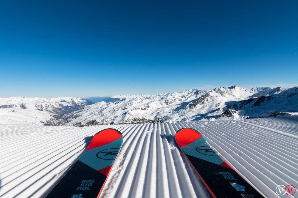 A vos skis, prêts, chaussez ! Direction les pistes de ski de Val Thorens dès ce week-end ! - © Station de Val Thorens
