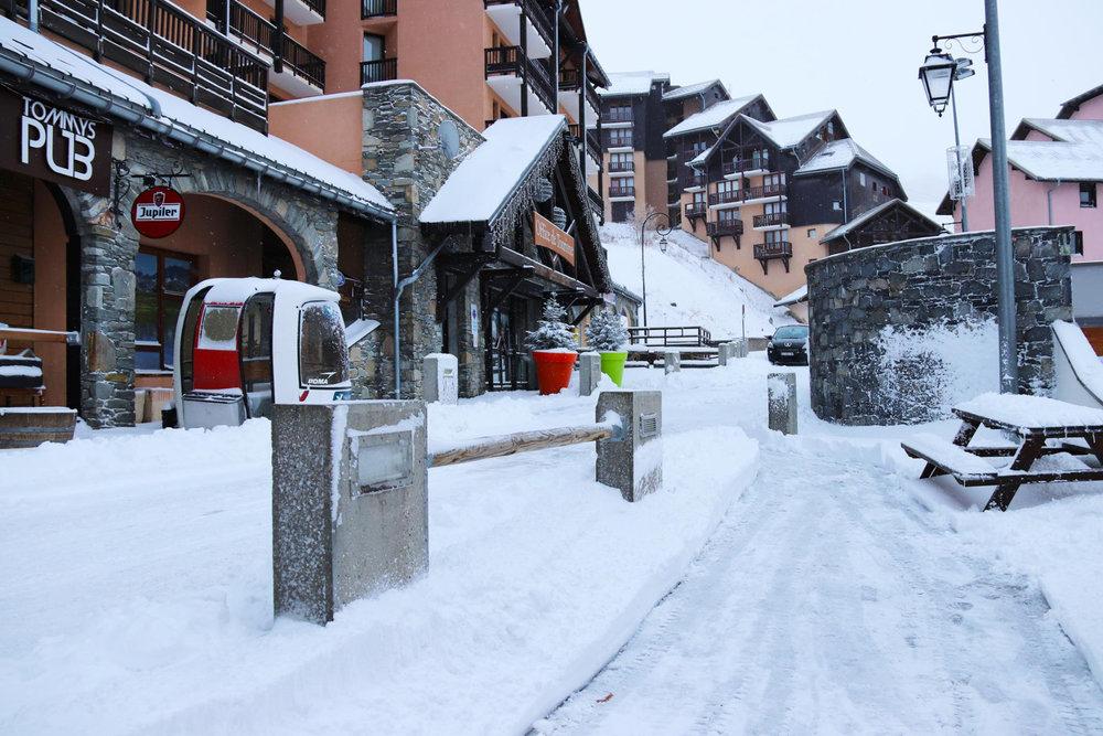 Réveil sous la neige ce matin à Valmeinier - © Facebook Valmeinier