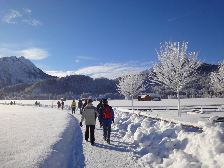 Laad je batterijen op met een deugddoende winterwandeling. - © Tourismus Oberstdorf   ek photo