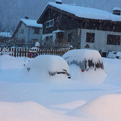 Chamonix Mont-Blanc - It's dumping! Taken on Dec. 10, much more snow in the forecast - © iPhone