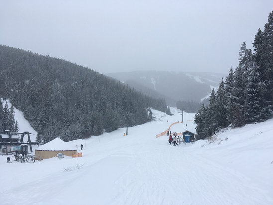 Red Lodge Mountain - Still snowing at 11am, light powder, Low base but feels nice - © Christopher.beddow@gmail