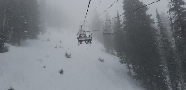 Jackson Hole - got about an inch or two the past weekend. a lot of terrain open but if it wasn't for that little bit of snow it would have been a lot of ice.  - © James W