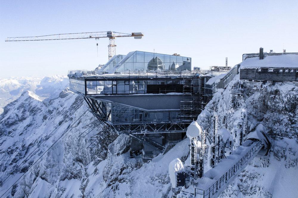 Die neue Bergstation der Seilbahn Zugspitze - © © Bayerische Zugspitzbahn Bergbahn AG