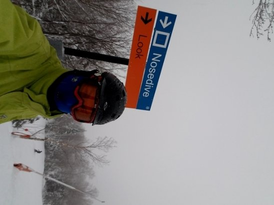 Stowe Mountain Resort - Great fresh powder...visibility not so good later on.. great temps... no lines great day...  - © nozdiver