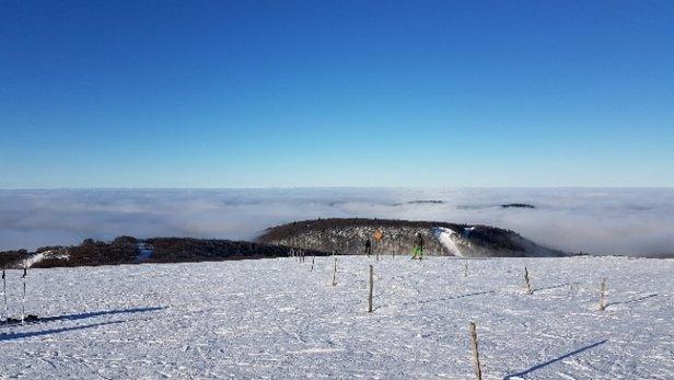 La Bresse Hohneck - Neige de canon,pistes gel - © Florent