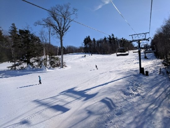 Wachusett Mountain Ski Area - Nice time for a low key day trip from Boston. Packed powder, no lift lines, COLD as heck. Got some natural snow last week, seems like they've been making plenty every night since though. - © anonymous
