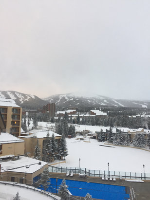 Breckenridge - Fresh snow Saturday night and still snowing on mountain this morning. Looks like 3-6inches of new stuff.  - © Stan Ledford's iPhone 6