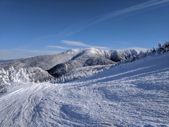 Cannon Mountain - great snow still from Thursday's storm and the cold temps are keeping people away. when this place is 100% open (like it is now) it is one of the best in the East! - © anonymous