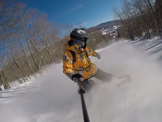 Stowe Mountain Resort - Awesome Blue Bird Day!   Stowe at its best!    - © teambimbo