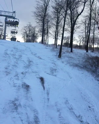 Seven Springs - Icy Best runs off of gunnar lift  - © iPhone