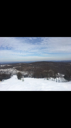 Roundtop Mountain Resort - Fun Friday still has snow but with the warm temperature not sure what is going to happen! - © iPhone