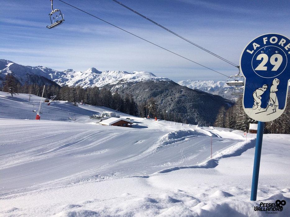 Sur les pistes de ski de Peisey Vallandry - © OT Peisey Vallandry