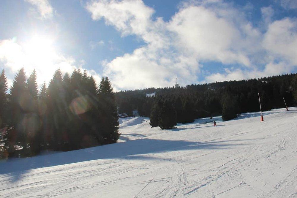 Skiareál Klínovec 30.1.2018 - © facebook Skiareál Klínovec