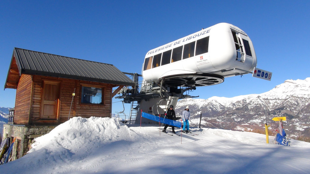 Sommet du télésiège de Libouze, sur le domaine skiable de Saint Léger les Mélèzes - © Stéphane GIRAUD-GUIGUES / Skiinfo