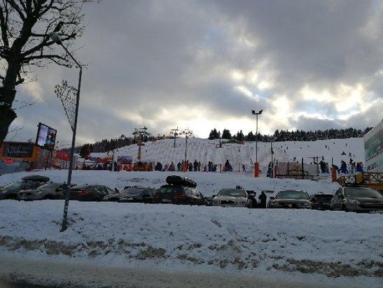 Zieleniec Ski Arena - Zieleniec jak sama nazwa wskazuje jest cały biały.  - © Anonim