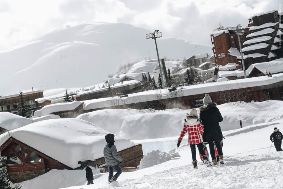 Alpe d'Huez 12.2.2018 - © facebook Alpe d'Huez