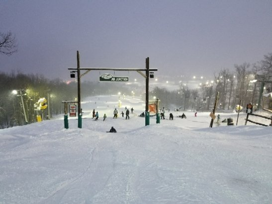 Whitetail Resort - night skiing conditions were awesome since it showed tonight - © des